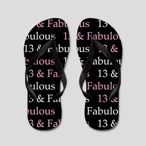 13 & Fabulous Birthday Flip Flops